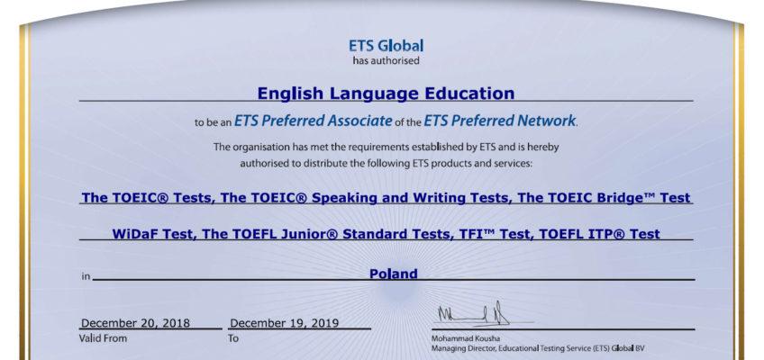 Certyfikat ETS